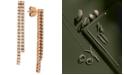 Le Vian Diamond Pavé Linear Drop Earrings (1 ct. t.w.) in 14k Rose Gold