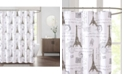 """JLA Home Paris 72"""" x 72"""" Faux-Linen Shower Curtain"""