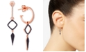 Wrapped in Love Black and White Diamond Earrings (1/2 ct. t.w.) in 14k Rose Gold, Created for Macy's