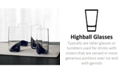 Hotel Collection CLOSEOUT! Set of 4 Highball Glasses with Black Ombre, Created for Macy's