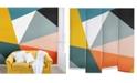 Deny Designs The Old Art Studio Modern Geometric No.33 8'x8' Wall Mural