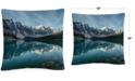 "Baldwin Pierre Leclerc Moraine Lake Reflection 16"" x 16"" Decorative Throw Pillow"