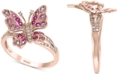 EFFY Collection EFFY® Pink Sapphire (3/8 ct. t.w.) & Diamond (1/10 ct. t.w.) Ring in 14k Rose Gold