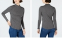 Charter Club Cotton Striped Mock-Neck T-Shirt, Created for Macy's