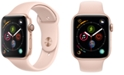 Apple Watch Series 4 AppleWatch Series4 GPS, 44mm Gold Aluminum Case with Pink Sand Sport Band