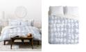 Deny Designs Jacqueline Maldonado Parallel Periwinkle Duvet Set