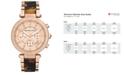 Michael Kors Women's Chronograph Parker Tortoise Acetate and Rose Gold-Tone Stainless Steel Bracelet Watch 39mm MK5538
