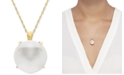 """Honora Cultured Freshwater Coin Pearl (13mm) 18"""" Pendant Necklace in 14k Gold"""