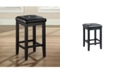 """Crosley Upholstered Square Seat Bar Stool With 24"""" Seat Height (Set Of 2)"""