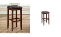 """Crosley Upholstered Square Seat Bar Stool With 29"""" Seat Height (Set Of 2)"""