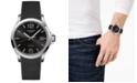 Longines Men's Swiss Conquest V.H.P. Black Rubber Strap Watch 43mm