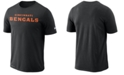 Nike Men's Cincinnati Bengals Dri-FIT Cotton Essential Wordmark T-Shirt