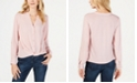 INC International Concepts INC Twist-Front Button-Up Top, Created for Macy's