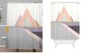 Deny Designs Iveta Abolina Bloc de couleur I Shower Curtain