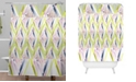 Deny Designs Iveta Abolina Chevron Glitch Shower Curtain