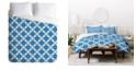 Deny Designs Holli Zollinger Four Dot Blue Queen Duvet Set