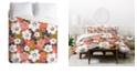 Deny Designs Heather Dutton Petals And Pods Lava Queen Duvet Set