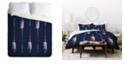 Deny Designs Iveta Abolina Native Blue Arrows Twin Duvet Set