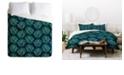 Deny Designs Iveta Abolina Blue Meadow Twin Duvet Set
