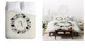 Deny Designs Iveta Abolina Silver Dove Christmas N Queen Duvet Set