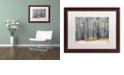 "Trademark Global Cora Niele 'Birches' Matted Framed Art, 16"" x 20"""