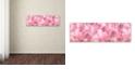 "Trademark Global Cora Niele 'Pink Tulip Scape' Canvas Art, 16"" x 47"""