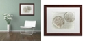 """Trademark Global Cora Niele 'Two King Scallop Shells' Matted Framed Art, 16"""" x 20"""""""