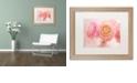 """Trademark Global Cora Niele 'Pink Persian Buttercup Bouquet' Matted Framed Art, 16"""" x 20"""""""
