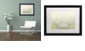 "Trademark Global Cora Niele 'Pure White Peony' Matted Framed Art, 16"" x 20"""