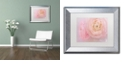 "Trademark Global Cora Niele 'Soft Pink Flower Bouquet' Matted Framed Art, 11"" x 14"""