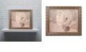 "Trademark Global Cora Niele 'White Persian Buttercup Still Life' Ornate Framed Art, 16"" x 20"""