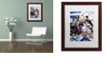 """Trademark Global Jenny Newland 'Puppy Party' Matted Framed Art, 16"""" x 20"""""""