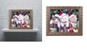 "Trademark Global Jenny Newland 'Meowy Christmas' Ornate Framed Art, 11"" x 14"""