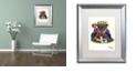 "Trademark Global Jenny Newland 'Jack Of Spades' Matted Framed Art, 16"" x 20"""