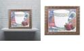 "Trademark Global Jenny Newland 'Tea Party Bear 2' Ornate Framed Art, 16"" x 20"""