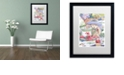 "Trademark Global Jenny Newland 'Tea Party Bear 3' Matted Framed Art, 16"" x 20"""