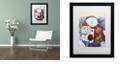 """Trademark Global Jenny Newland 'Winter Wonder Pals' Matted Framed Art, 16"""" x 20"""""""