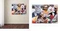 "Trademark Global Jenny Newland 'Cozy Kittens' Canvas Art, 24"" x 32"""