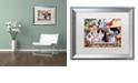 "Trademark Global Jenny Newland 'Springtime Wonders' Matted Framed Art, 16"" x 20"""