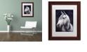 """Trademark Global Jenny Newland 'White Stallion' Matted Framed Art, 11"""" x 14"""""""