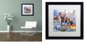 """Trademark Global Jenny Newland 'Ice Age Color' Matted Framed Art, 16"""" x 16"""""""