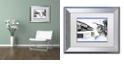 "Trademark Global Nick Bantock 'Fish Nose' Matted Framed Art, 11"" x 14"""