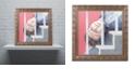 "Trademark Global Nick Bantock 'Man Down' Ornate Framed Art, 11"" x 11"""