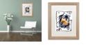 "Trademark Global Nick Bantock 'Pelicos Stamp' Matted Framed Art, 16"" x 20"""