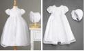 Lauren Madison Baby Girls Split-Front Christening Dress