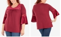 NY Collection Plus Size Crochet Trim Top