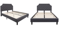 Flash Furniture Brighton Queen Size Tufted Upholstered Platform Bed In Dark Gray Fabric