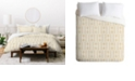 Deny Designs Holli Zollinger Mudcloth Gold Twin Duvet Set