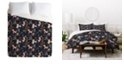 Deny Designs Holli Zollinger Anthology Of Pattern Seville Garden Black King Duvet Set