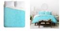 Deny Designs Holli Zollinger Linen Aqua Queen Duvet Set